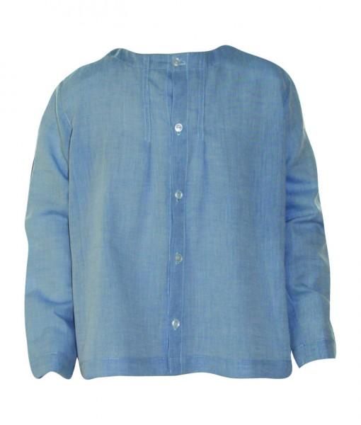 little village people blå volie skjorte