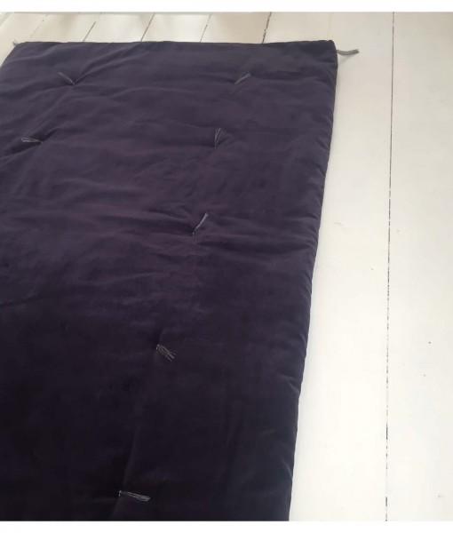aubergine futon halv