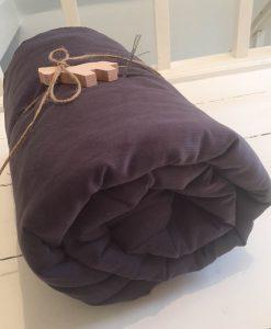 gråblå futon