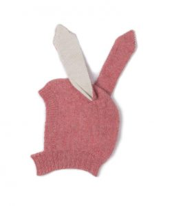 bunny hat oeuf rose