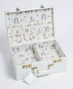 lille hvid gemmekuffert