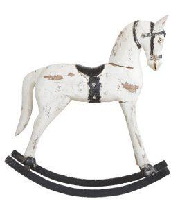 rocking horse hvid M