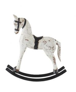 rocking horse hvid S