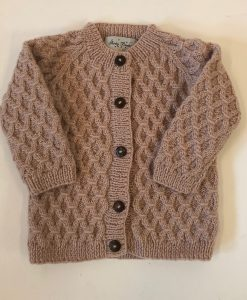 shirley bredal smock cardigan dusty pink