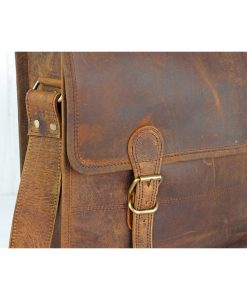 medium leather schoolbag