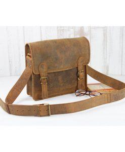 mini læder skoletaske
