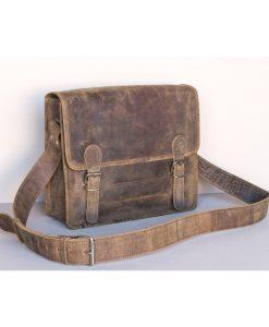 small skoletaske læder