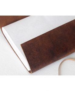 læder notesbog håndlavede papir