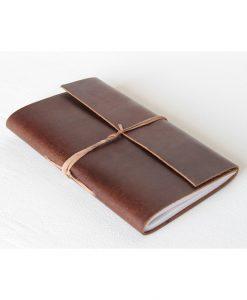 læder vintage notesbog