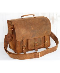 16  Leather Vintage Bag  Medium taske i bøffellæder 1a52f3c36c222