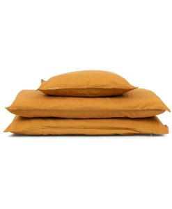 Studio feder sengetøj orchre