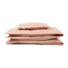 sengetøj økologisk studio feder dark powder